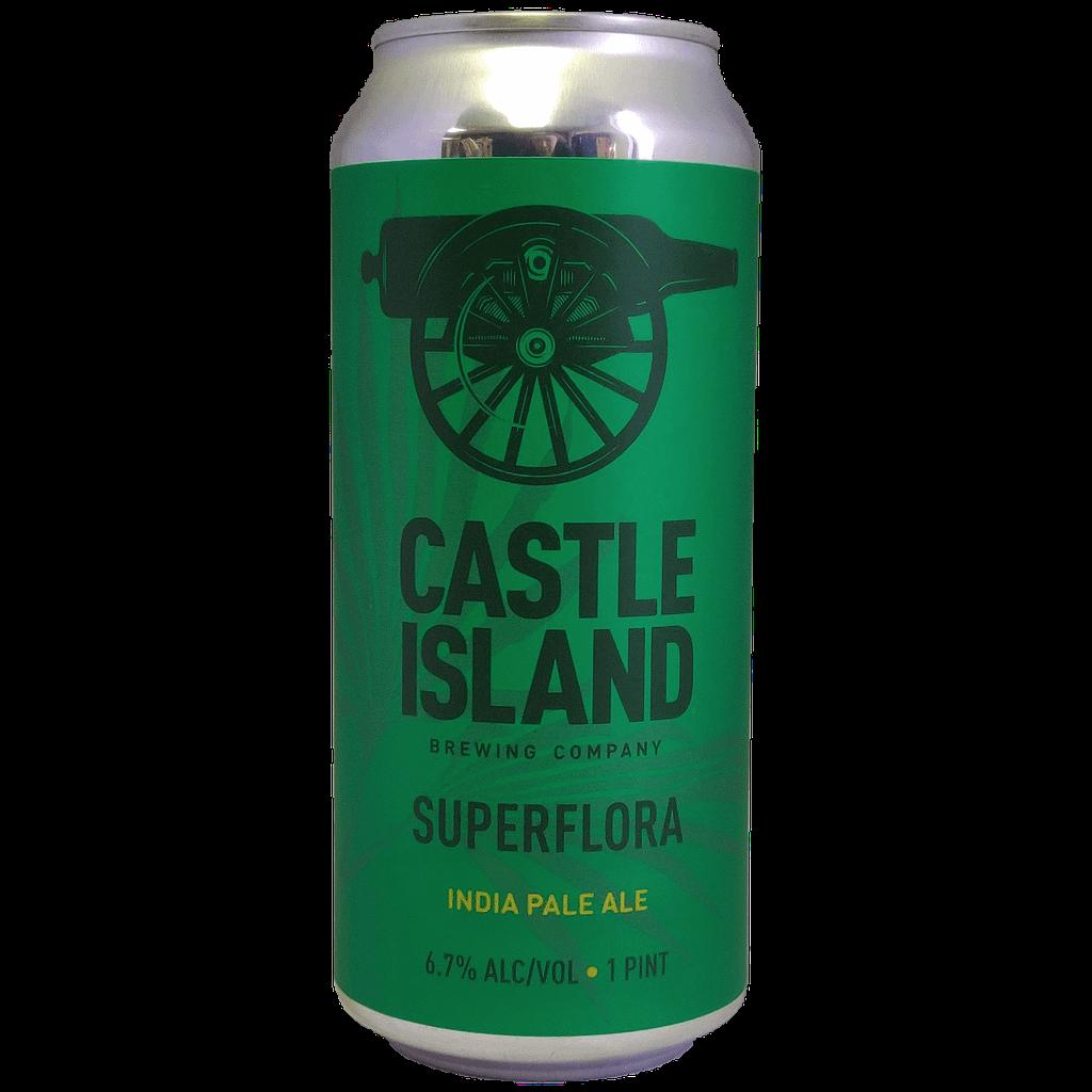 Superflora IPA beer can