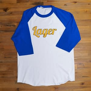 Lager baseball shirt